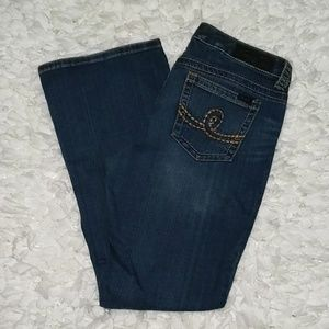 Seven7 Boot Cut Distressed Jeans Size 14